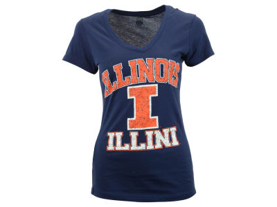 Illinois Fighting Illini NCAA Women's LP V-Neck T-Shirt