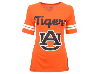 Auburn Tigers NCAA Women's LP Football V-Neck T-Shirt