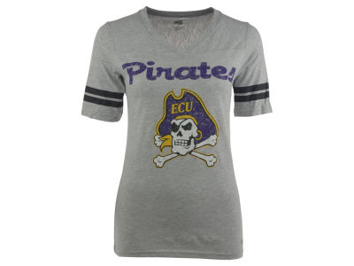 East Carolina Pirates NCAA Women's LP Football V-Neck T-Shirt