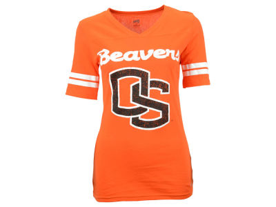 Oregon State Beavers NCAA Women's LP Football V-Neck T-Shirt