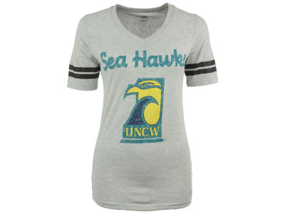 UNC Wilmington Seahawks NCAA Women's LP Football V-Neck T-Shirt