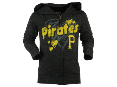 Pittsburgh Pirates 5th & Ocean MLB Girls Youth Full Count Full Zip Hooded Fleece