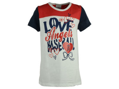 Los Angeles Angels 5th & Ocean MLB Youth Girls Love Baseball T-Shirt