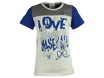 Los Angeles Dodgers MLB Youth Girls Love Baseball T-Shirt