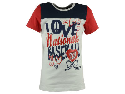 Washington Nationals 5th & Ocean MLB Youth Girls Love Baseball T-Shirt