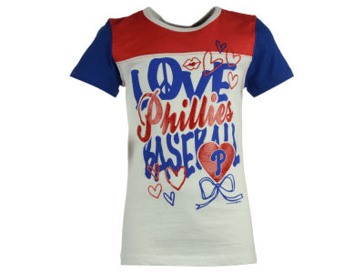 Philadelphia Phillies 5th & Ocean MLB Youth Girls Love Baseball T-Shirt