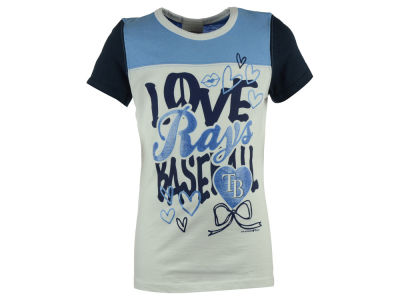 Tampa Bay Rays 5th & Ocean MLB Youth Girls Love Baseball T-Shirt