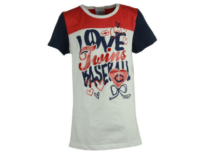 Minnesota Twins 5th & Ocean MLB Youth Girls Love Baseball T-Shirt