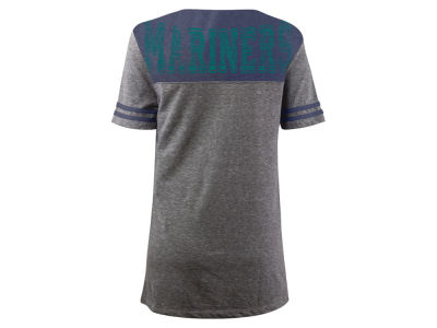 Seattle Mariners 5th & Ocean MLB Women's V-Notch Triblend T-Shirt