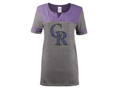 Colorado Rockies 5th & Ocean MLB Women's V-Notch Triblend T-Shirt
