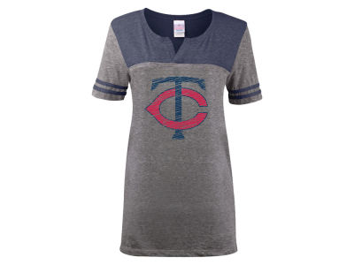 Minnesota Twins 5th & Ocean MLB Women's V-Notch Triblend T-Shirt