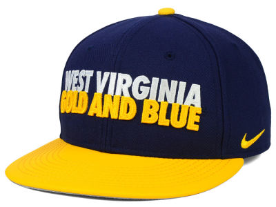 West Virginia Mountaineers Nike NCAA True Motto Snapback Cap
