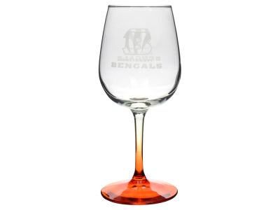 Cincinnati Bengals Satin Etch Wine Glass