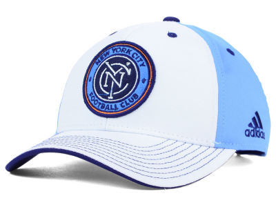 New York City FC adidas MLS 2015 Basic White Adjustable Cap