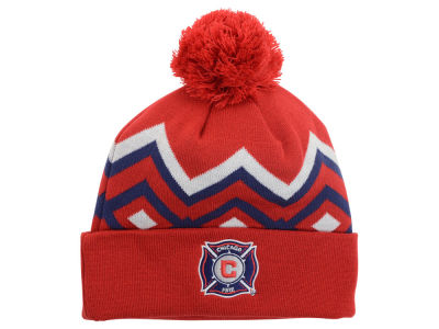 Chicago Fire adidas MLS 2015 Team Cuff Pom Knit
