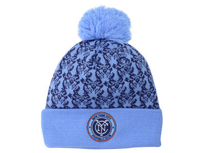 New York City FC adidas MLS 2015 Women's Scarf Pom Knit