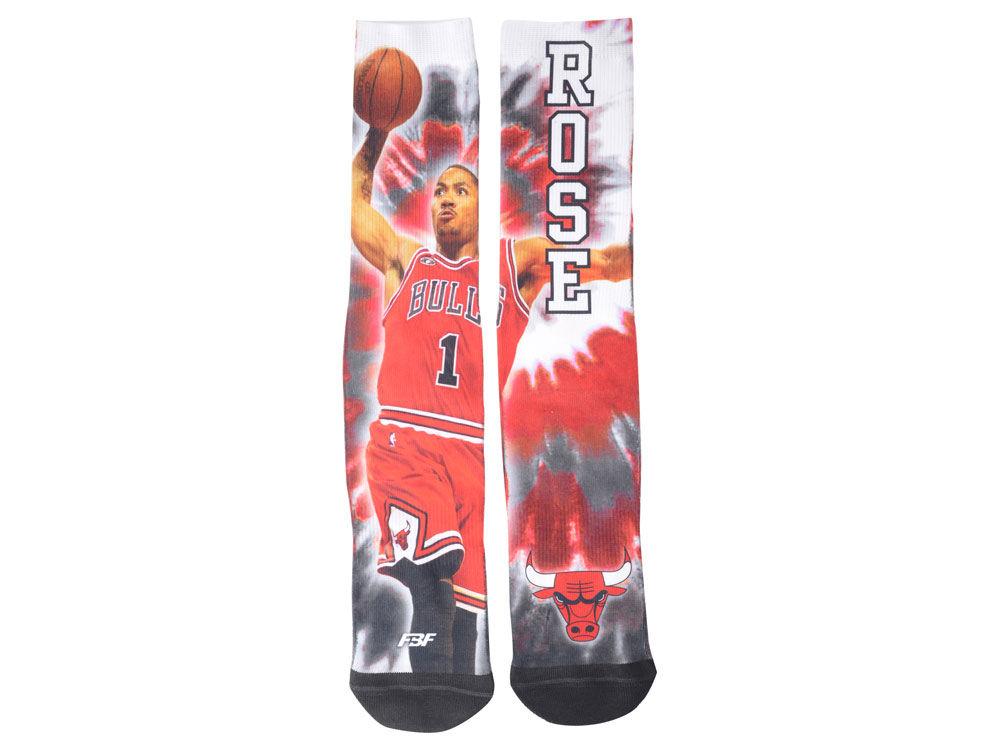 Chicago Bulls Derrick Rose For Bare Feet NBA Tie-Dye Crew 308S Sock - Chicago Bulls Derrick Rose For Bare Feet NBA Tie-Dye Crew 308S