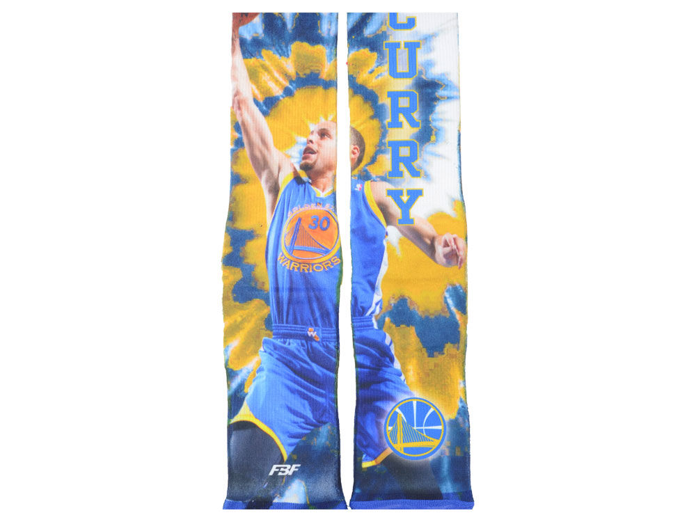 Golden State Warriors Stephen Curry NBA Tie-Dye Crew 308S Sock - Golden State Warriors Stephen Curry NBA Tie-Dye Crew 308S Sock