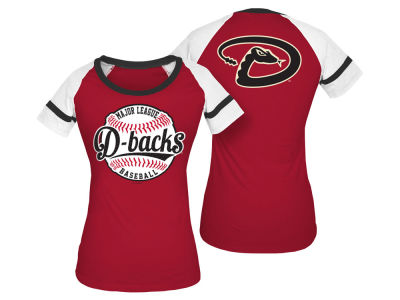 Arizona Diamondbacks 5th & Ocean MLB Women's LE Athletic Baseball T-Shirt