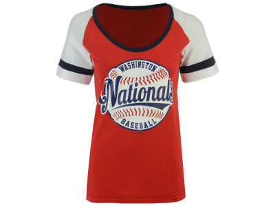 Washington Nationals 5th & Ocean MLB Women's LE Athletic Baseball T-Shirt