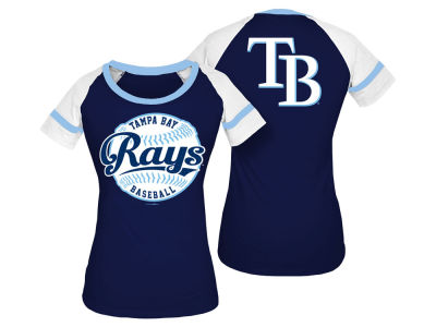 Tampa Bay Rays 5th & Ocean MLB Women's LE Athletic Baseball T-Shirt