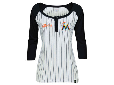 Miami Marlins 5th & Ocean MLB Women's LE Opening Night Raglan Shirt