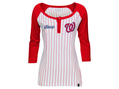 Washington Nationals 5th & Ocean MLB Women's LE Opening Night Raglan Shirt