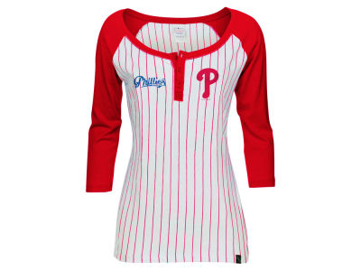 Philadelphia Phillies 5th & Ocean MLB Women's LE Opening Night Raglan Shirt