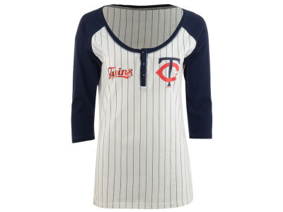Minnesota Twins 5th & Ocean MLB Women's LE Opening Night Raglan Shirt