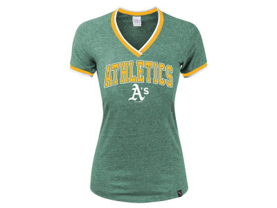 Oakland Athletics 5th & Ocean MLB Women's LE Opening Night Triblend T-Shirt