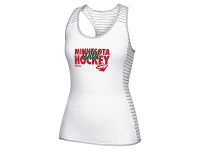 Minnesota Wild Reebok NHL Women's Stacked Against Tank