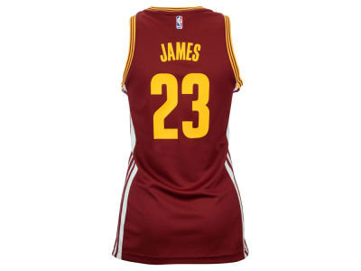 Cleveland Cavaliers LeBron James adidas NBA Womens Replica Jersey