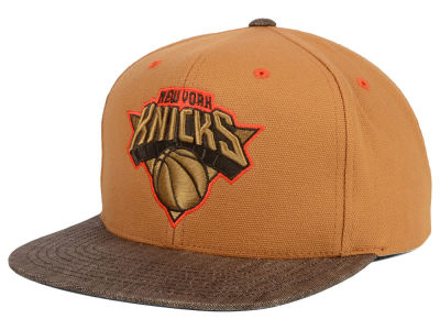 New York Knicks Mitchell and Ness NBA Winter Canvas Snapback Cap