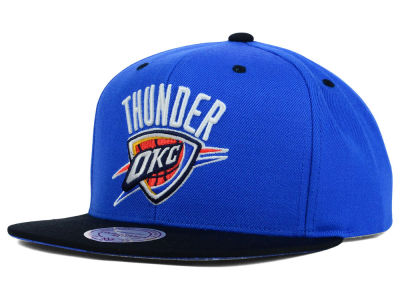 Oklahoma City Thunder Mitchell and Ness NBA Split Under Snapback Hat