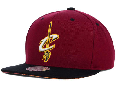 Cleveland Cavaliers Mitchell and Ness NBA Split Under Snapback Hat