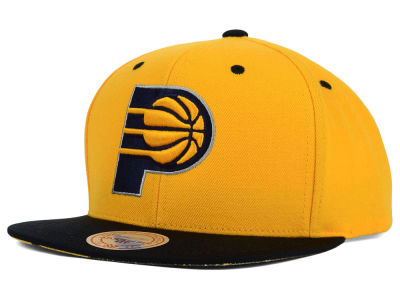Indiana Pacers Mitchell and Ness NBA Split Under Snapback Hat