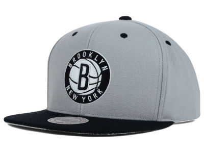 Brooklyn Nets Mitchell and Ness NBA Split Under Snapback Hat