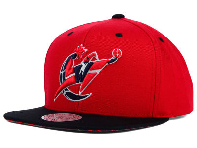 Washington Wizards Mitchell and Ness NBA Split Under Snapback Hat