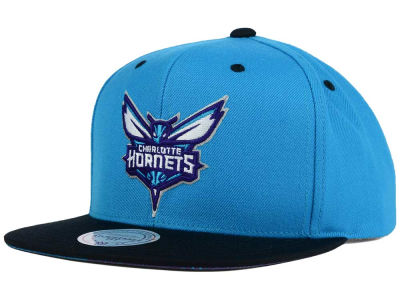 Charlotte Hornets Mitchell and Ness NBA Split Under Snapback Hat
