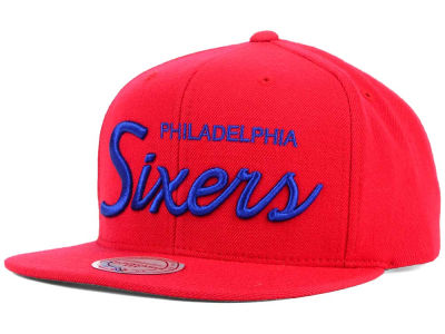 Philadelphia 76ers Mitchell and Ness NBA Classic Strapback Cap