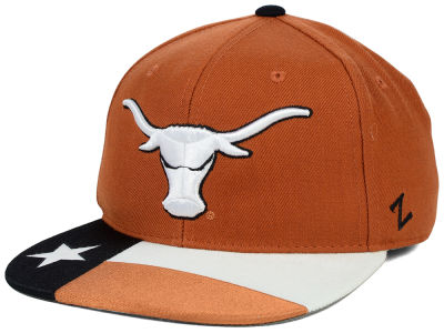 Texas Longhorns Zephyr NCAA Flag Bill Fitted Hat
