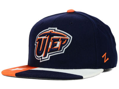 UTEP Miners Zephyr NCAA Flag Bill Fitted Hat