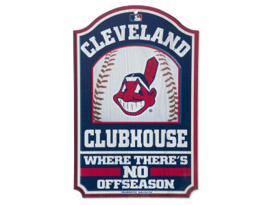 Cleveland Indians 11x17 Wood Sign