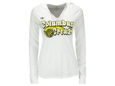 Columbus Crew SC adidas MLS Women's Scarf Sweep Long Sleeve Hooded T-Shirt