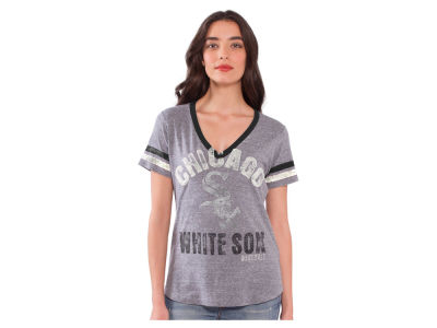 Chicago White Sox MLB Women's Big League Rhinestone V-Neck T-Shirt