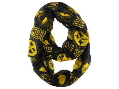 Pittsburgh Steelers Love Print Infinity Scarf