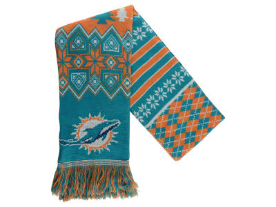 Miami Dolphins Ugly Sweater Acrylic Scarf