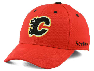 Calgary Flames Reebok NHL JC Core Basic Flex Fit Hat