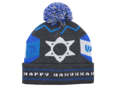 LIDS Private Label PL Hanukkah Cuffed Pom Knit