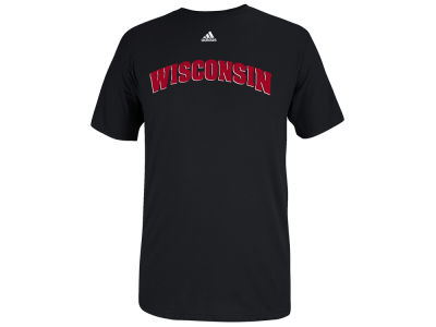 Wisconsin Badgers adidas NCAA Men's Team Font T-Shirt